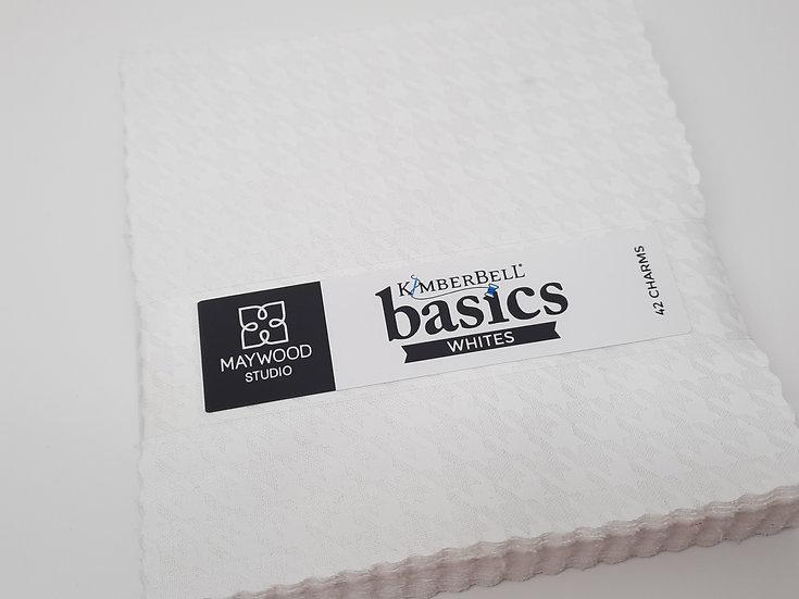 """Kimberbell Basics white, charm pack 5""""x 5"""""""