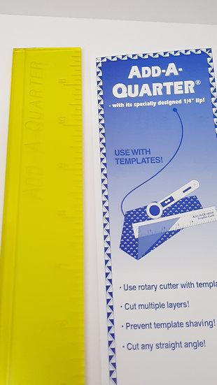 "«add-a-quarter» linjal 12"""