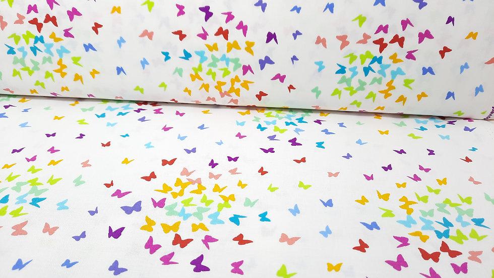 Rainbow Sprinkles, sommerfugler i regnbue farger, 0,5 meter