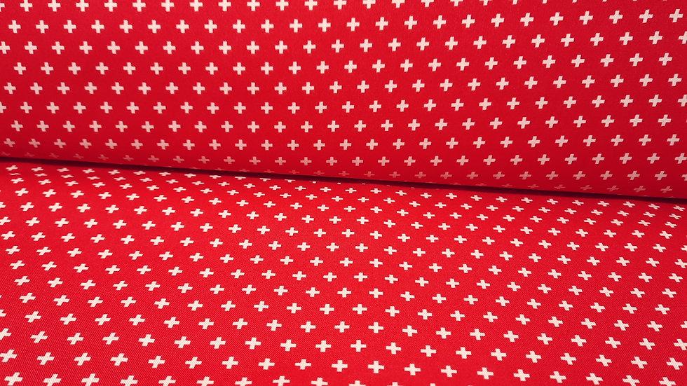 True Kisses Heather Bailey, kremfargete kryss på rød bunn, 0,5 meter