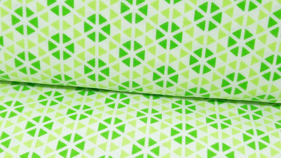 Hubba Hubba Me & My Sister Designs, trekanter grønn/hvit, 0,5 meter