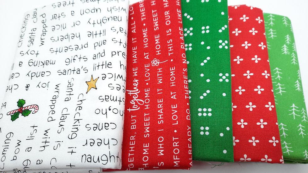 stoffpakke FQ rød/grønn