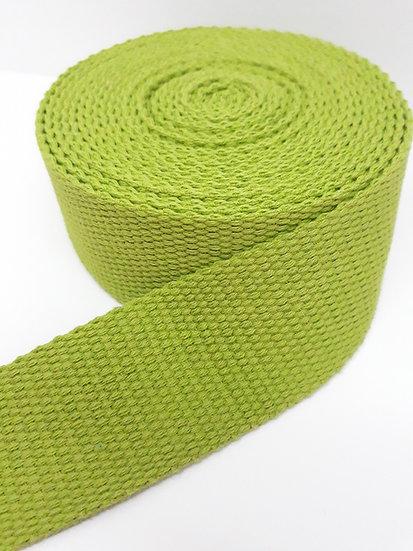 6 meter vevet bånd, 50mm limegrønn