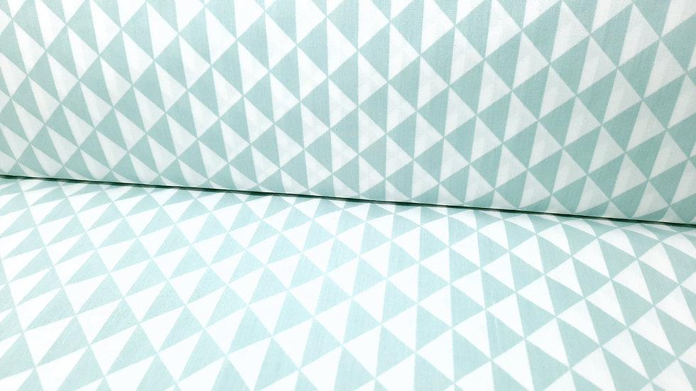 bomullstoff trekanter mint