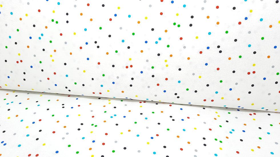 DOT DOT DOT Whistler Studios, prikker på hvit, 0,5 m