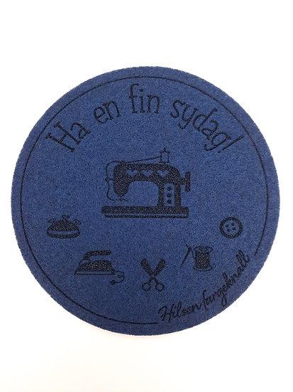filt brikke til glass og kaffeekopp, marineblå