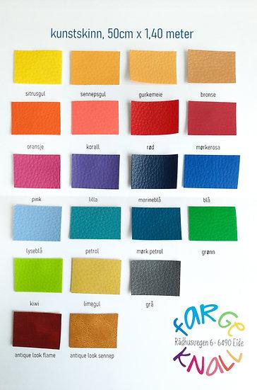 fargekort vareprøver kunstskinn