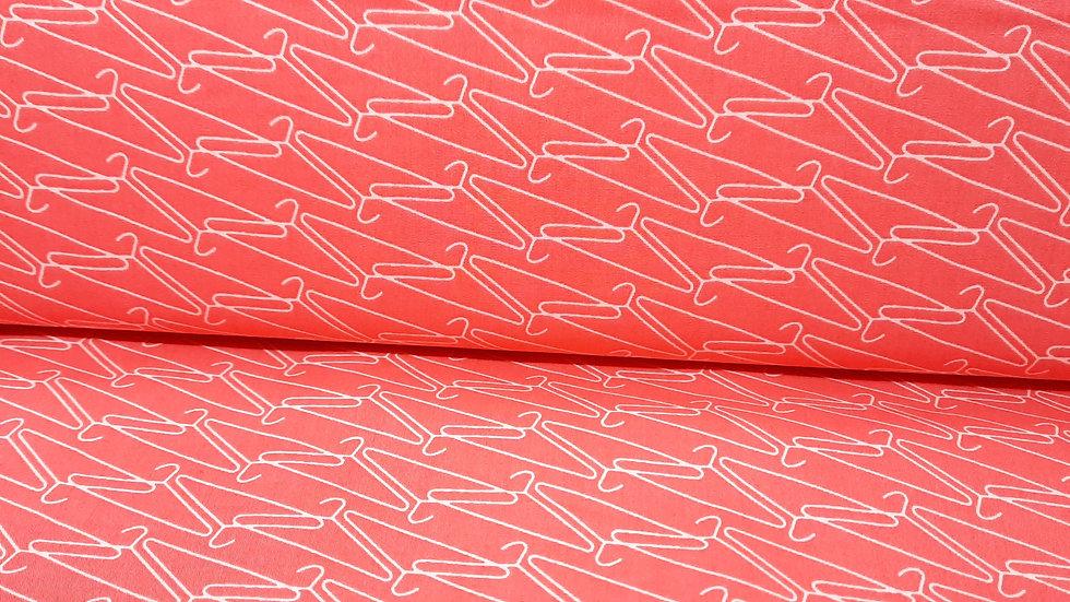 Make it, Hang it Warm, flamingorød med hvite kleshenger, 0,5 met