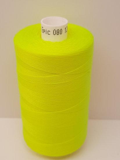 Coats Epic 80 sytråd 1.000m neon gul