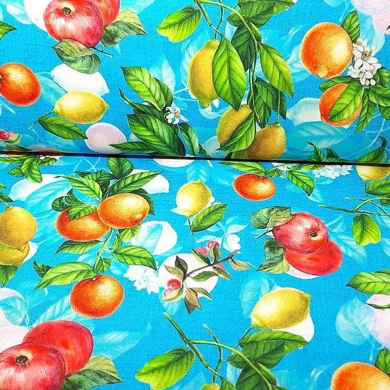kanvas epler og sitroner