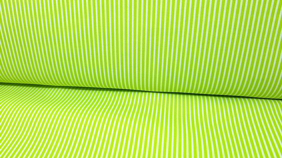 bomullstoff med grønne striper