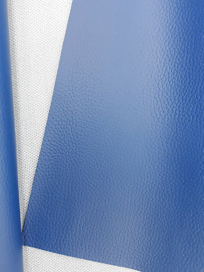 imitert lær/ kunstskinn blå, 50 cm x 1,40 m