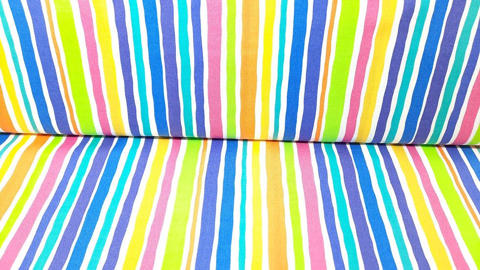 Dot.Dot.Dash-! Me & My Sister Designs, striper på hvit, 0,5 meter