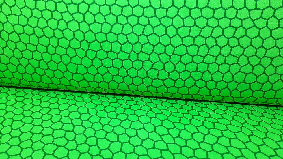 bomullstoff mosaikk grønn