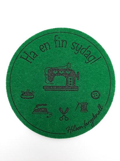 filt brikke til glass og kaffeekopp, skogsgrønn