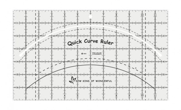 Quick Curve Ruler, linjal Sew Kind of Wonderful