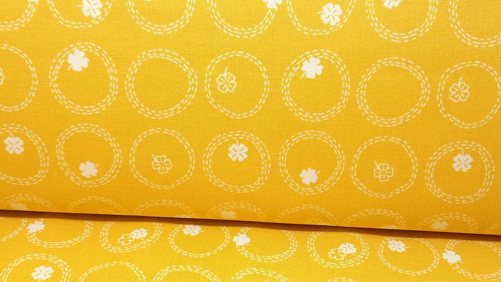 FIGO Lucky Charms, firkløver gul, 0,5 m