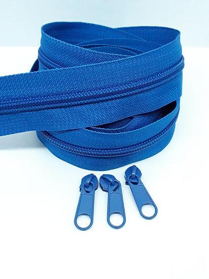 glidelås 5mm spiral, blå