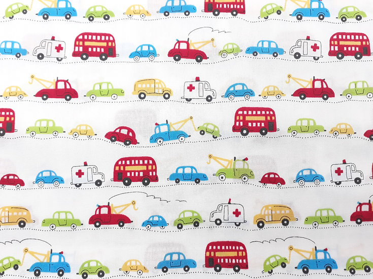 Homey Collection by Junko Matsuda småbiler på hvit, 0,5 meter
