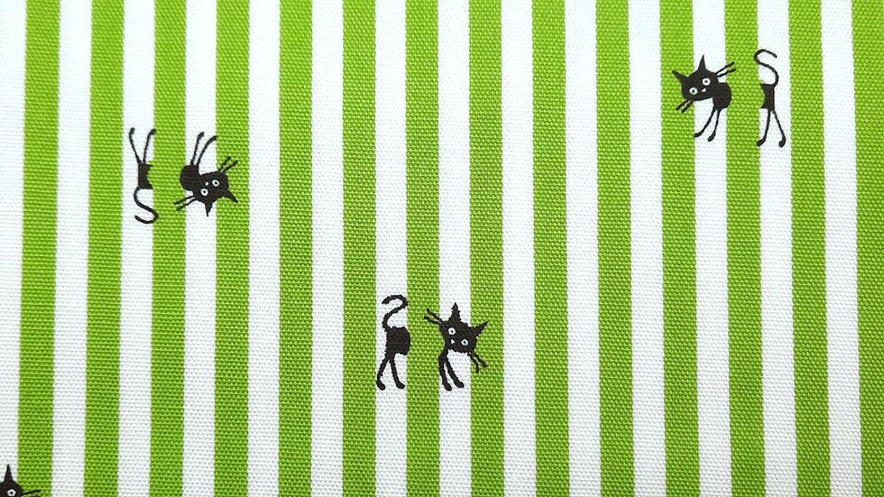CoCoLand katter med striper grønn/hvit, 0,5 meter