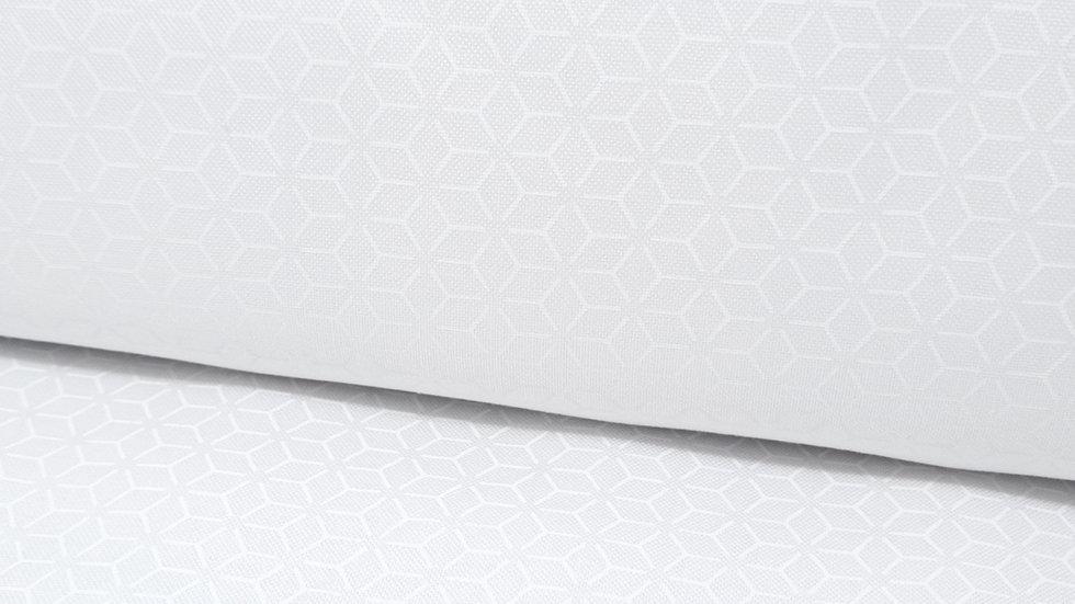 Kimberbell Basic Whites, geometrisk mønster hvit på hvit, 0,5 meter