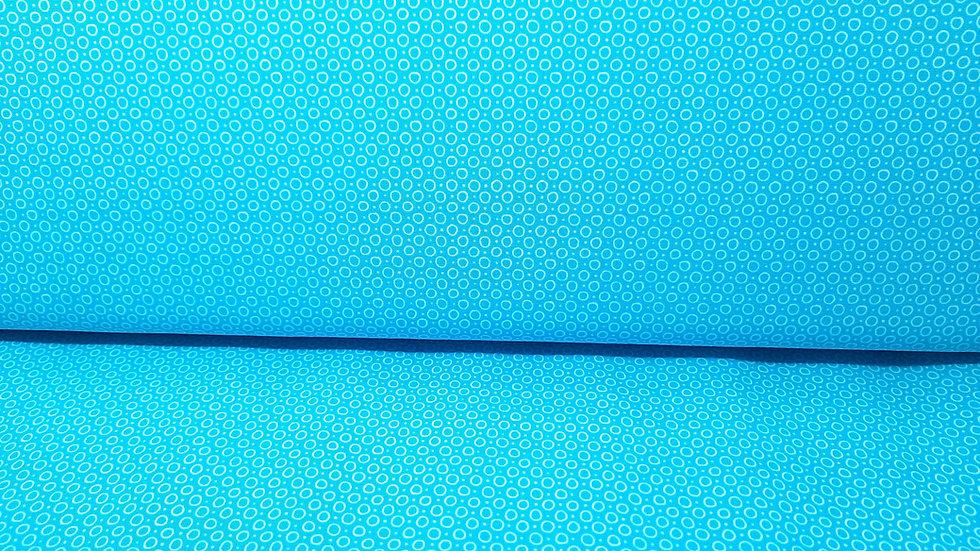 Hello Sunshine Katie Skoog Crystal Bubbles, turkis med hvite kringler, 0,5 m