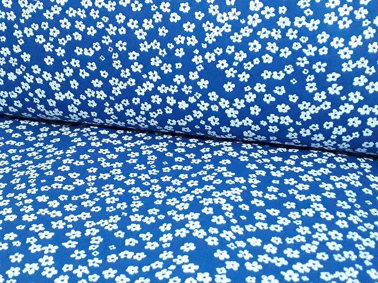 bomullstoff mørkeblå småblomstret