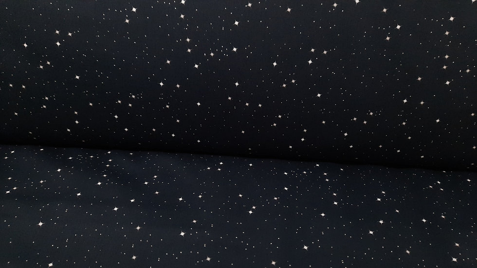 bomullstoff svart med hvit stjernehimmel