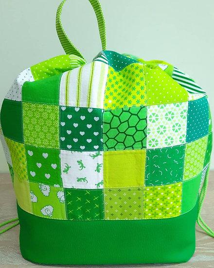 strikkesekk / prosjektpose grønn