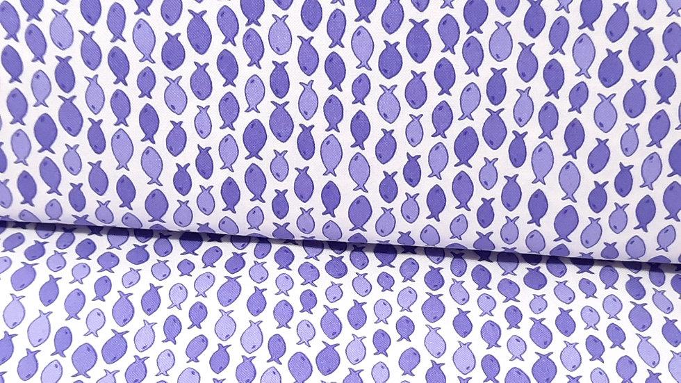 Rainy Day Me & My Sister Designs, fisker lilla på hvit, 0,5 meter