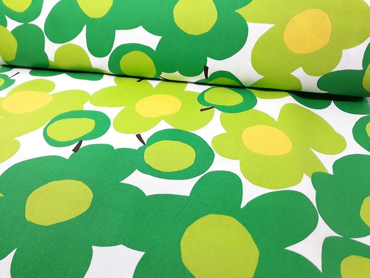 Hishiei Shoji blomster epler i grønn og gul, 0,5 meter