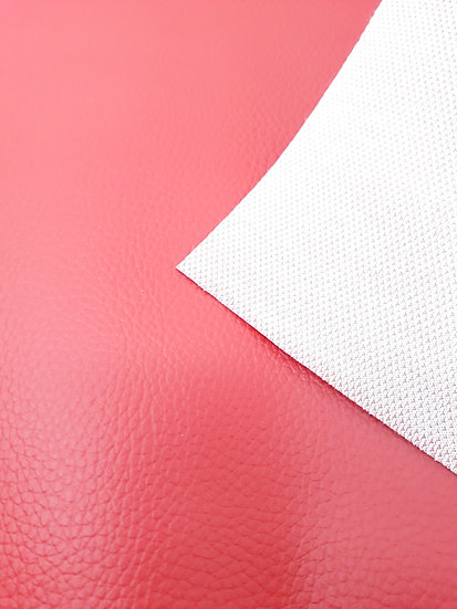 imitert lær/ kunstskinn rød, 50 cm x 1,40 m
