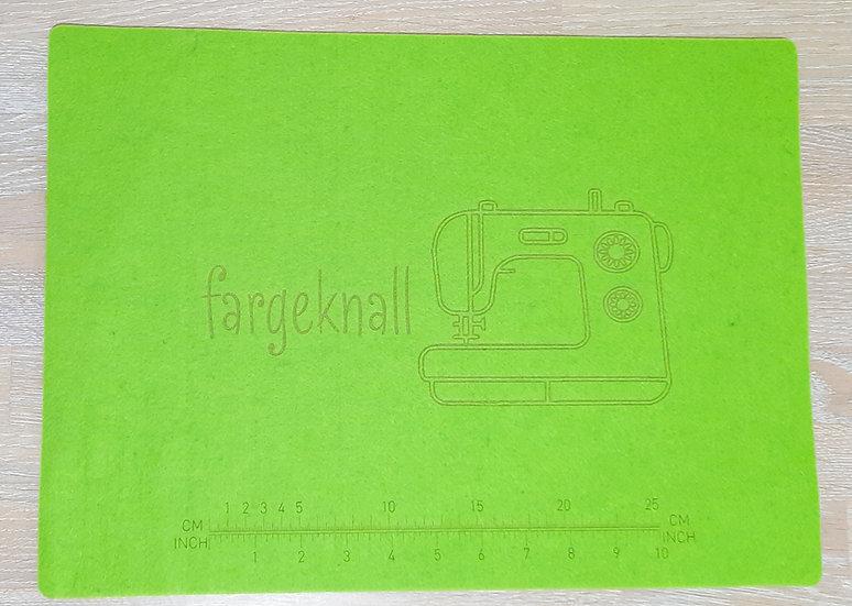 symaskin filtunderlag, 32 x 44 cm, grønn