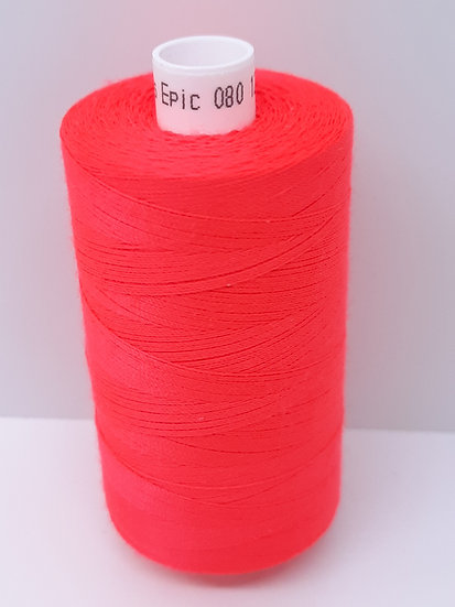 Coats Epic 80 sytråd 1.000m neon rød