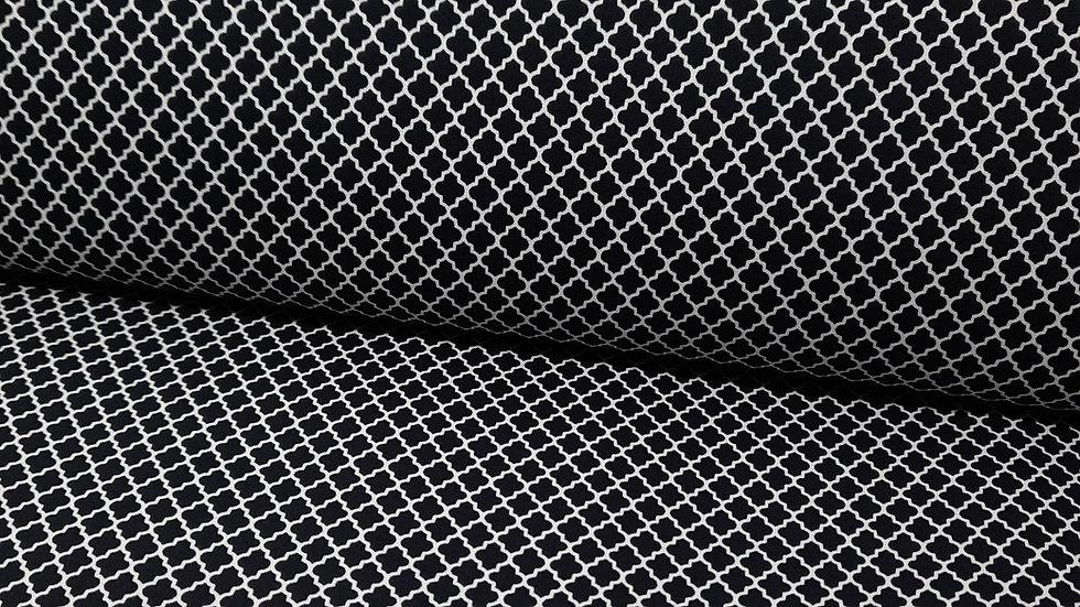 Color Theory Greta Lynn, mini arabesker svart, 0,5 m