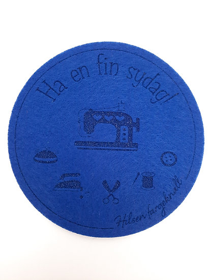 filt brikke til glass og kaffeekopp, blå