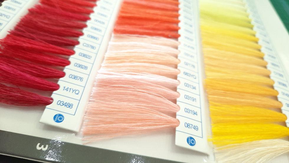 Coats fargekart med ekte tråd