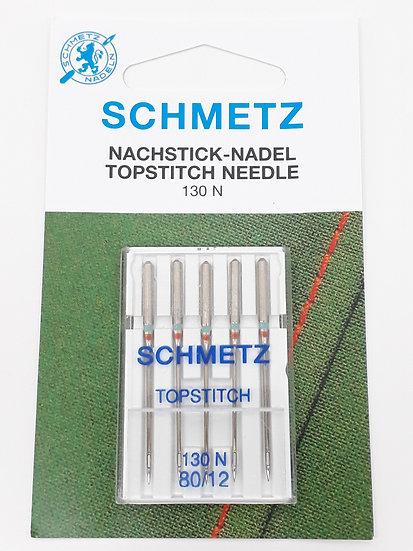 Schmetz topstitch symaskinnål, 5 stk