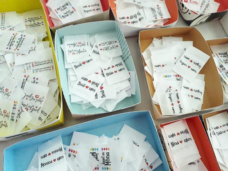 label til sidesøm, 40 stk