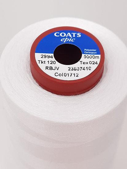 Coats Epic 120 sytråd  5.000m hvit