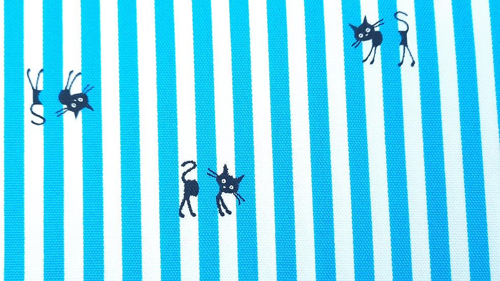 CoCoLand katter med striper blå/hvit, 0,5 meter