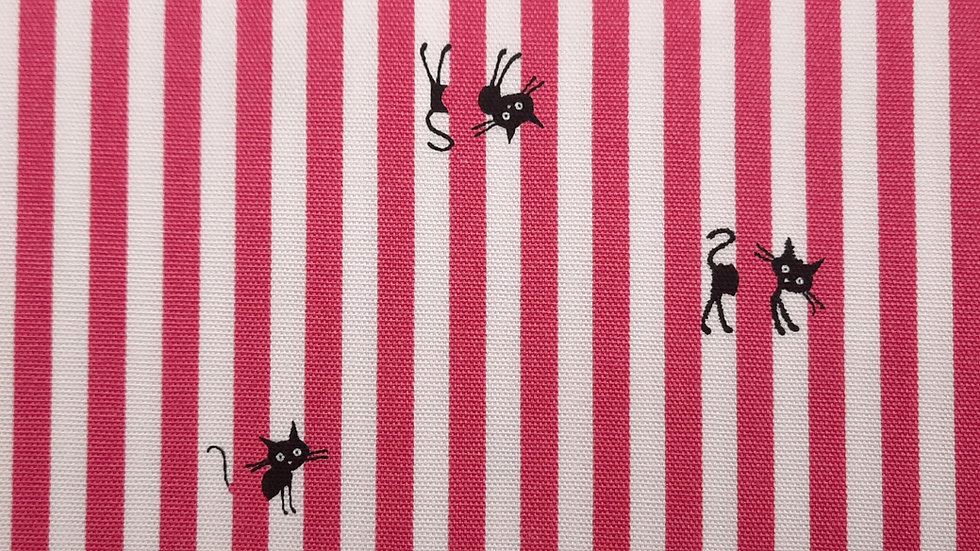 CoCoLand katter med striper rosa/hvit, 0,5 meter