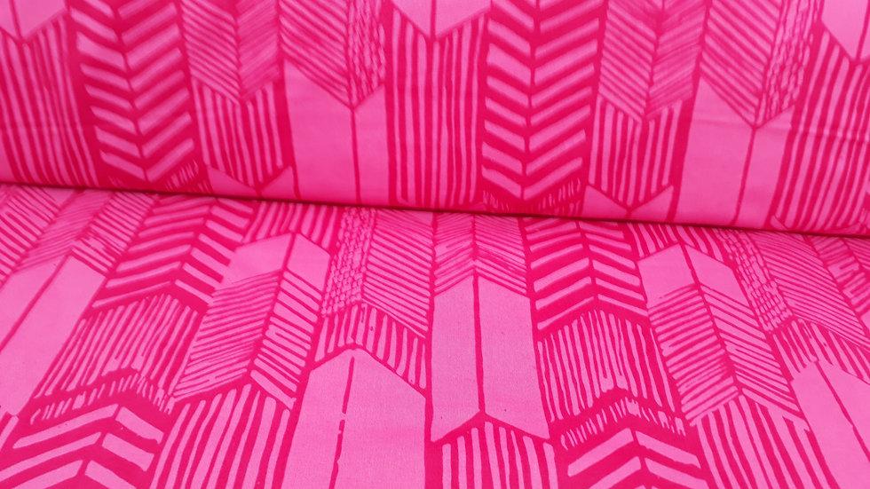 ME+YOU Indah Batiks fjærpiler pink, 0,5 meter