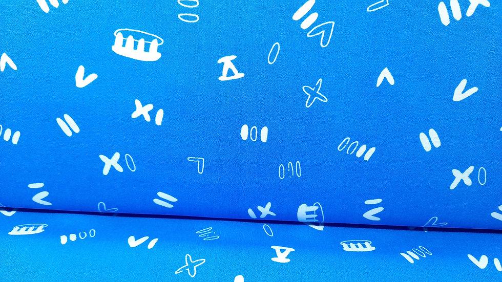 ANALOG IIII CRUX blå med hvite symboler, 0,5 m