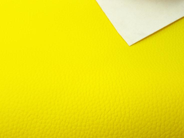 imitert lær/ kunstskinn sitrusgul, 50 cm x 1,40 m