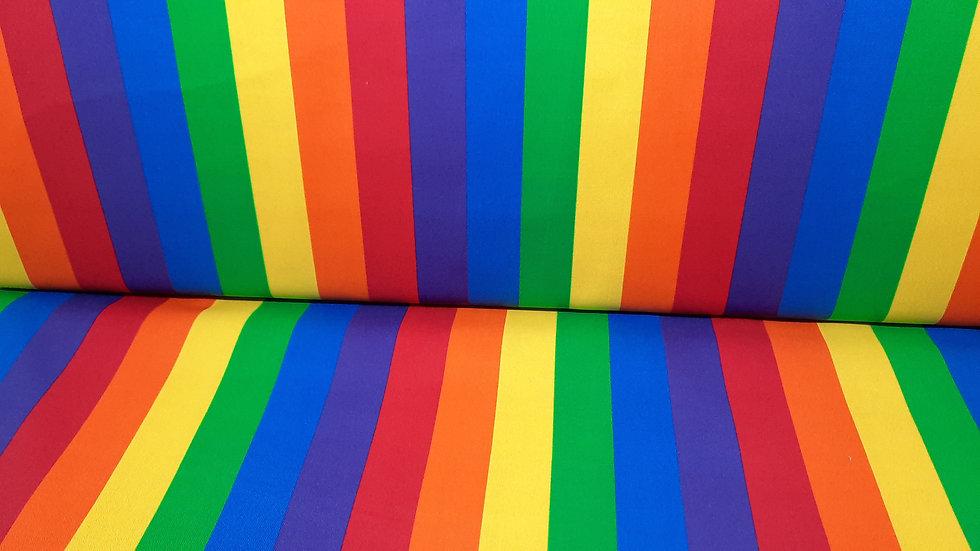 This & That II, 2,5 cm regnbue striper, 0,5 meter