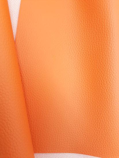 imitert lær/ kunstskinn oransje, 50 cm x 1,40 m