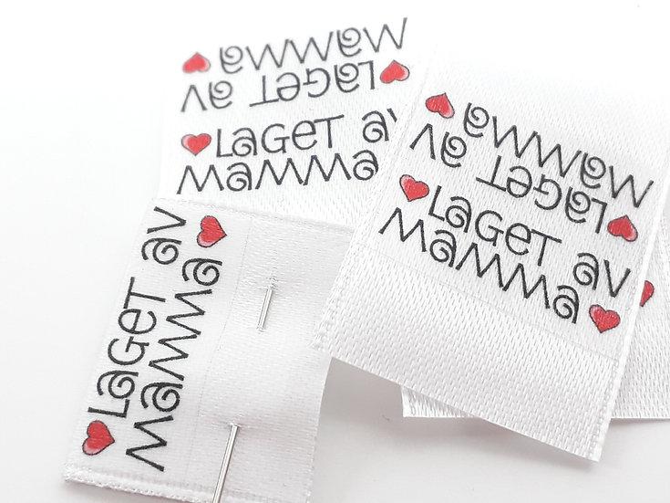 label til sidesøm 'laget av mamma', 10 stk