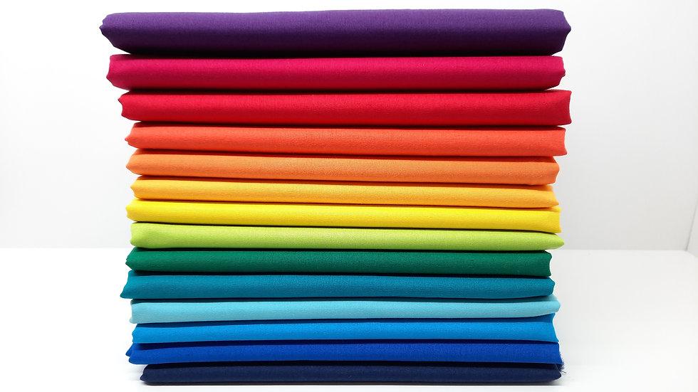 stoffpakke ensfarget, 14x 50cm
