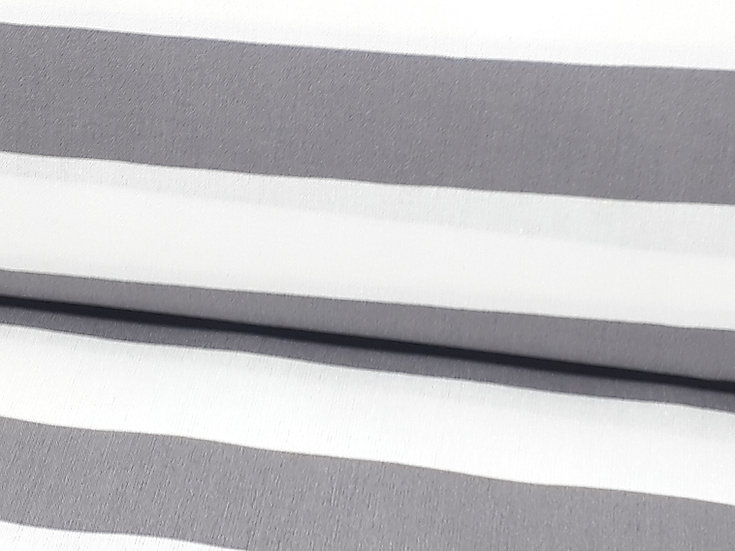 bomullstoff 2,5 cm striper grå/hvit
